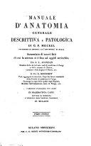 Manuale d'anatomia generale descrittiva e patologica de G. F. Meckel