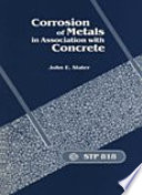 Corrosion Of Metals In Association With Concrete Book PDF