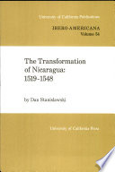 The Transformation of Nicaragua, 1519-1548