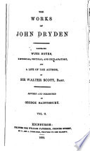 The Works of John Dryden  Dramatic works