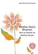 Mother Owl's Rhymes Pdf/ePub eBook