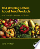 FDA Warning Letters About Food Products