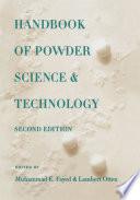 Handbook of Powder Science   Technology Book