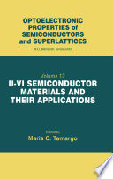 II-VI Semiconductor Materials and their Applications