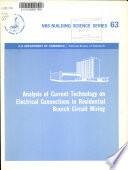Analysis of Current Technology on Electrical Connections in Residential Branch Circuit Wiring