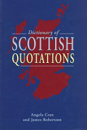 Dictionary of Scottish Quotations