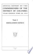 Annual Report Of The Commissioners Of The District Of Columbia