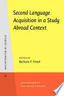 Second Language Acquisition in a Study Abroad Context