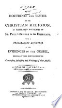 A View of the Doctrines and Duties of the Christian Religion, in Fortynine Discourses on St. Paul's Epistle to the Ephesians
