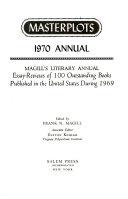 Masterplots 1970 Annual