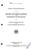 Rules and Regulations and Statements of Procedure, Labor Management Relations Act