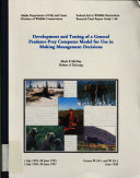 Development and Testing of a General Predator Prey Computer Model for Use in Making Management Decisions