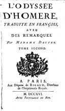 L'Odyssee trad. en francois, avec des remarques par madame Dacier