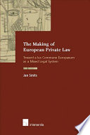 The Making Of European Private Law