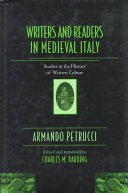 Writers and Readers in Medieval Italy