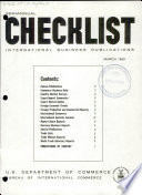 Checklist  International Business Publications