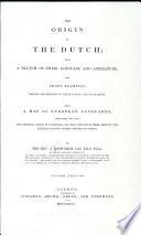 The Origin Of The Dutch