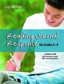 Reading Journal Response for Grades 6-8