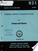 Federal Supply Classification