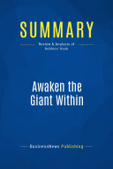 Summary: Awaken the Giant Within ebook