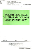 Polish Journal of Pharmacology and Pharmacy