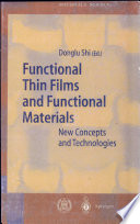 Functional Thin Films and Functional Materials Book