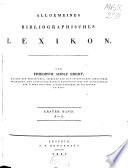 Allgemeines bibliographisches Lexikon