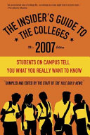 The Insider S Guide To The Colleges 2007