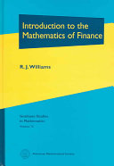 Introduction To The Mathematics Of Finance Book PDF