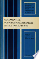 Comparative Sociological Research In The 1960s And 1970s