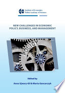 New Challenges in Economic Policy  Business  and Management Book