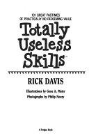 Totally Useless Skills