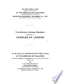 De Luxe Illustrated Catalogue of the Extensive and Exceedingly Valuable Artistic Property Belonging to the Widely Known Connoisseur Charles of London
