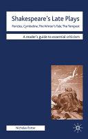 Shakespeare's Late Plays Pdf/ePub eBook