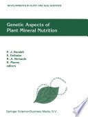 Genetic Aspects of Plant Mineral Nutrition Book