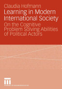 Learning in Modern International Society: On the Cognitive ...
