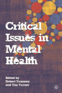 Critical Issues In Mental Health