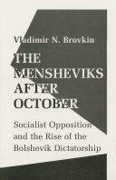 The Mensheviks after October