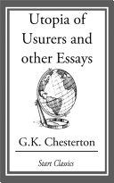 Utopia of Usurers and other Essays [Pdf/ePub] eBook