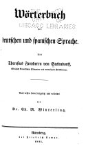Diccionario de las lenguas española y alemana: German-Spanish