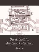 Reichsgesetzblatt für die im Reichsrathe vertretenen Königreiche und Länder