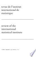 Revue de L'Institut International de Statistique