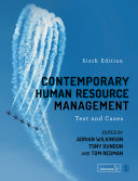 Contemporary Human Resource Management Pdf/ePub eBook