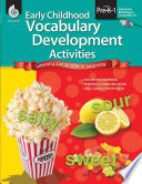 Early Childhood Vocabulary Development Activities
