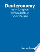 Deuteronomy  New European Christadelphian Commentary