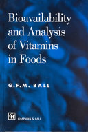 Bioavailability and Analysis of Vitamins in Foods