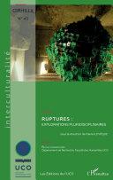 Ruptures : explorations pluridisciplinaires Pdf/ePub eBook