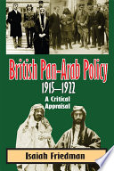 British Pan Arab Policy  1915 1922