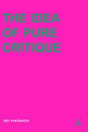 Pdf Idea of Pure Critique