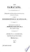 The Ramayana  Kishkindh   k  ndam  1891
